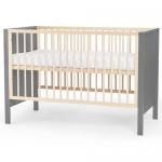 Детская кроватка Kinderkraft с матрасом MIA Grey
