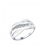 Кольцо Sokolov 94012170-17,5, серебро