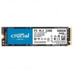 Твердотельный накопитель 500Gb SSD Crucial P2 3D NAND M,2 PCIe NVMe Gen3 R2300Mb/s W940MB/s CT500P2SSD8