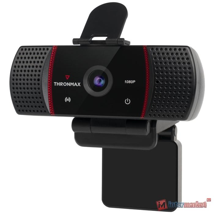 Web-камера Thronmax Stream GO X1, Black-Red, FHD 1920x1080/30, автофокус, 2xMic, USB